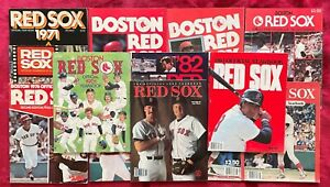 BOSTON RED SOX OFFICIAL YEARBOOKS - 1971 THRU 1988 - 13 OFFICIAL YEARBOOKS