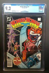 Wonder Woman #2 (1987) CGC 9.2 Highest Graded Canadian $1 Price Variant Rare Key