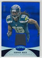 2013 Certified Mirror Blue Materials #87 Sidney Rice Jersey /99