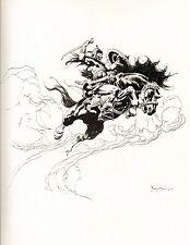 """1977 Full Color Plate """"Kublai Khan"""" by Frank Frazetta Fantastic GGA"""