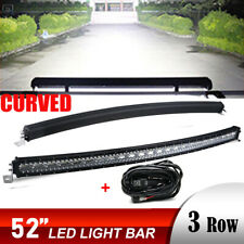 """52Inch 7D LED Light Bar Combo + Wiring OFFROAD SUV 4WD ATV FORD GMC 50"""""""