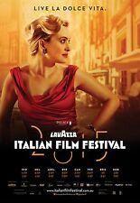 LAVAZZA ITALIAN FILM FESTIVAL AUSTRALIA POSTER LAURA CHIATTI LA DOLCE VITA