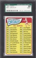 1965 Topps baseball card #361 Checklist  graded SGC 88 NMMT 8
