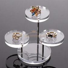 Jewelry Necklace Ring Earring Stand Display Organizer Holder Show Rack Tray Gift