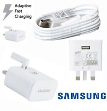 100% GENUINE FAST CHARGER PLUG & CABLE  SAMSUNG GALAXY S7 S6 EDGE S8 S9 S10 Note