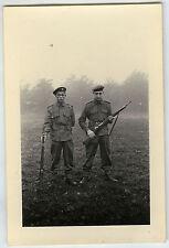 PHOTO ANCIENNE - MILITAIRE FUSIL ARME MANOEUVRE - SOLDIER GUN - Vintage Snapshot