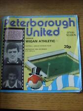 26/12/1979 Peterborough United v Wigan Athletic  (Creased, Worn On Corners, Scor