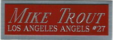 MIKE TROUT NAMEPLATE FOR AUTOGRAPHED Signed Baseball Display CUBE CASE