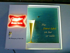 Vintage Miller High Life Beer Motion Lighted Sign with Moving Glass of Beer