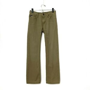 vans Youth/Boys Light Brown Straight Leg Jeansw Whiskers 5 Pkt Logos Size 16