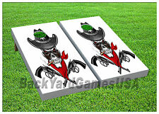 VINYL WRAPS Cornhole Boards DECALS Cowboy Sheriff BagToss Game Stickers 575