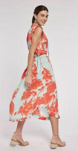 New Tyler  Boe Scarlett  100% Silk Tropical Floral Dress Small Retail $257