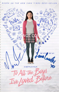 To All The Boys I've Loved Before reprint cast signed 12x18 poster photo