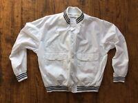 """Vintage 1990's St MICHAEL (M&S) Button Up White Jacket Top  Size XL Chest 44-46"""""""