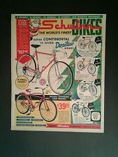 1962 Schwinn Continental~Typhoon~Racer~Corvette Bicycles Bike Christmas Promo AD