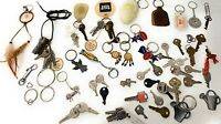 Vintage Lot of Old Car , Home, and Business Keys With Key rings.