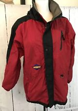 OBERMEYER SKI SNOWBOARD JACKET Kids Juniors SIZE 16 SHASTA RED BLACK Hooded