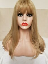 Taylor Swift inspired Wig Light Golden Blonde  Synthetic Full Wig Long Bangs