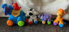 Fisher Price Press Amazing Animals Train Elephant Giraffe Zebra Musical Toy Baby