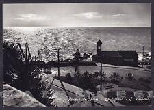 IMPERIA BORDIGHERA 91 CAPO AMPELIO - NOTTURNO Cartolina FOTOGRAFICA viagg. 1958