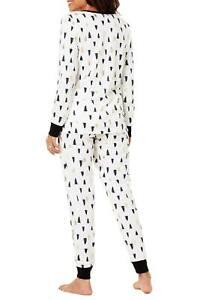 Family PJs  2 Piece Pajama Set Trees Women Large L