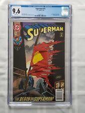 Superman #75 CGC 9.6 (1993) FIRST PRINT NEWSSTAND Death of Superman [DC Comics]