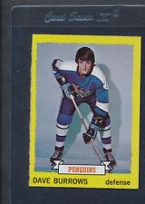 1973/74 Topps #027 Dave Burrows Penguins NM/MT *570