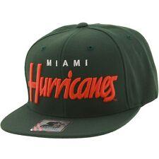 $30 Starter University of Miami Cap green orange