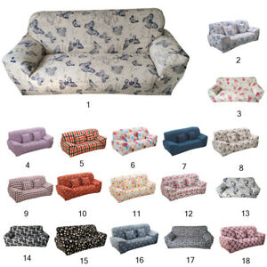 Universal 3-Seater Stretchy Sofa Slipcover Washable Couch Protectors Covers Fit