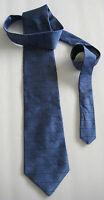 EMMANUEL UNGARO Blue 100% Silk Men's Necktie (Made in U.S.A.)