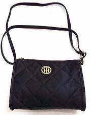 Tommy Hilfiger Black  Quilted Women's Zip Top Crossbody Bag