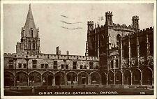 Oxford INGHILTERRA VECCHIA CARTOLINA POSTALE E TIMBRO 1950 cristiano-Curch CATHEDRAL CATTEDRALE