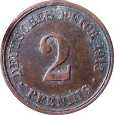 J  11   2 Pfennig KAISERREICH  1913 J in SS  1502372