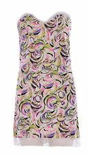 Women's Floral Adjustable Strapless Boobtube Stretch Mini Dress Size 10 summer