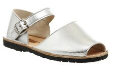 Girls Designer Leather Solillas Bebe Sandals Silver Matallic Size 9 Infant BNIB