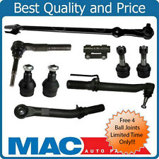 05-16 Ford F250 F350 Super Duty Out Tie Rod Ends Drag Link Steering Kit 4WD 9pc