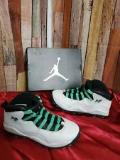 Pre-owned! Youth Jordan Retro 10 White/Black/Pine Green/Amarillo Size 4.5Y