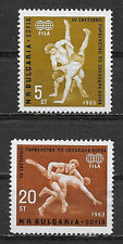 BULGARIA , 1963 , WRESTLING , SPORTS , SET OF 2 STAMPS  , VLH