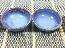 Set of 2 PCs. Purple Ceramic Bowl Soy Sauce Dipping Bowl Salad or Sushi Wasabi