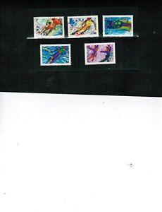CANADA  1992  OLYMPICS - WINTER   5 used  cat # 1399-1403   BOOK 451