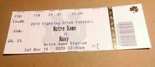 2019 Notre Dame Fighting Irish vs Navy Football Ticket Stub nice