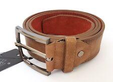 Cinta Cintura Uomo Pelle Marrone A-619 Elegante Glamour Fashion Serpente hac