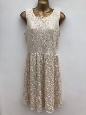 NWOT ATMOSPHERE Ivory Lace Fit & Flare Dress Size 12 Wedding, Occasion
