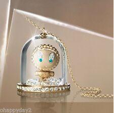 signed Swarovski~ERIKA UNDER GLASS~ crystal SNOWGLOBE NECKLACE~pendant~ New~$175