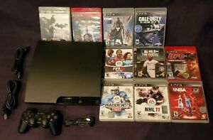 Sony PlayStation 3 PS3 Slim CECH-3001A 160GB Clean Console - 10 GAME BUNDLE!