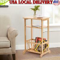 3 Tier Side End Coffee Table Storage Shelves Sofa Couch Living Room Furniture