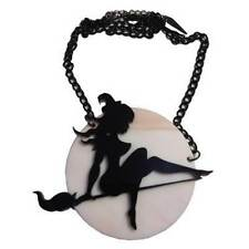 Witch Full-Moon Pendant Necklace Halloween Horror Accessory Kreepsville 666