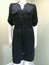 Mossino Women's Black Shirt Dress~ Size S/P