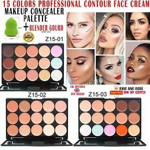 15 Colour Face Cream Makeup Contour Palette Camouflage Make Up Pro Concealer UK