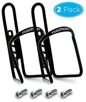 Aduro Bike Water Bottle Holder Aluminum Cage [2X Pack] Bicycle Water Bottle
